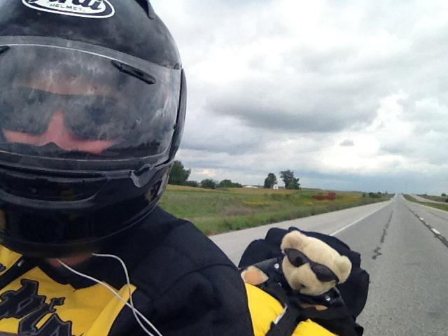 Dan Zinn and Lucky ride a motorcycle cross country #olympiarides