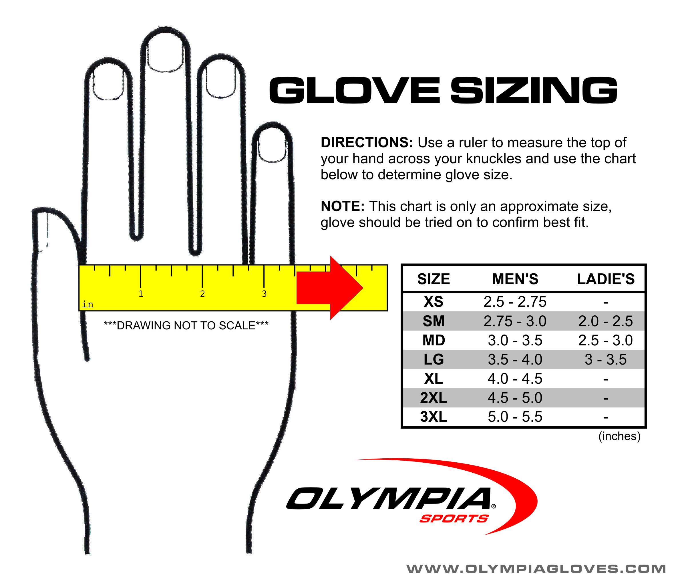 Glove sizes explained