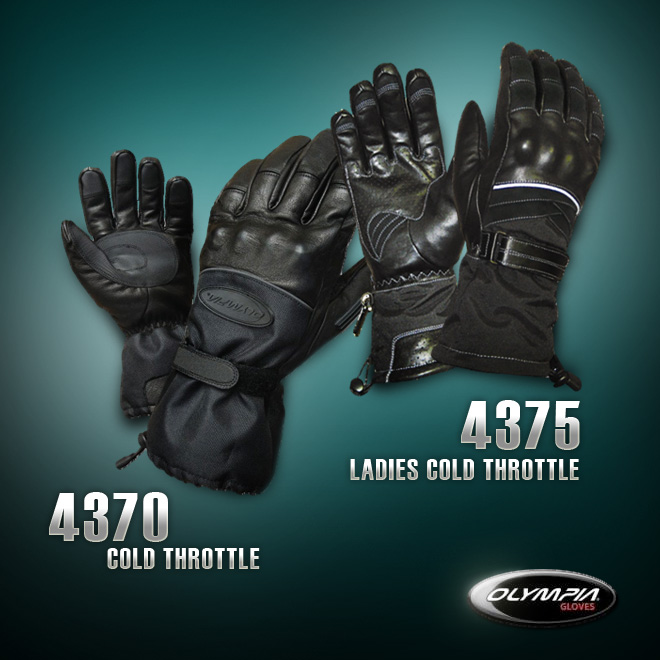 Ladies & Mens Cold Throttle Motorcycle Gloves