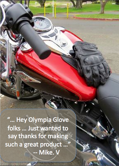 happy customers sharing Olympia Gloves testimonials