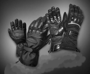 Four different styles of Olympia Snowmobile Gloves